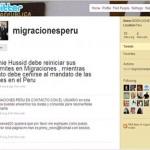 Trámites migratorios en Perú - Dudas por Twitter