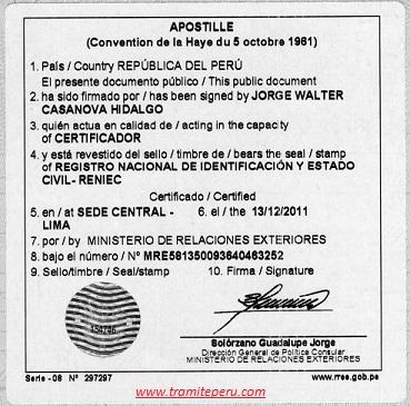 Tramite en peru tramites y documentos servicio al for Ministerio de relaciones interiores espana