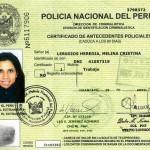 Certificado de Antecedentes Policiales para Uso en el País
