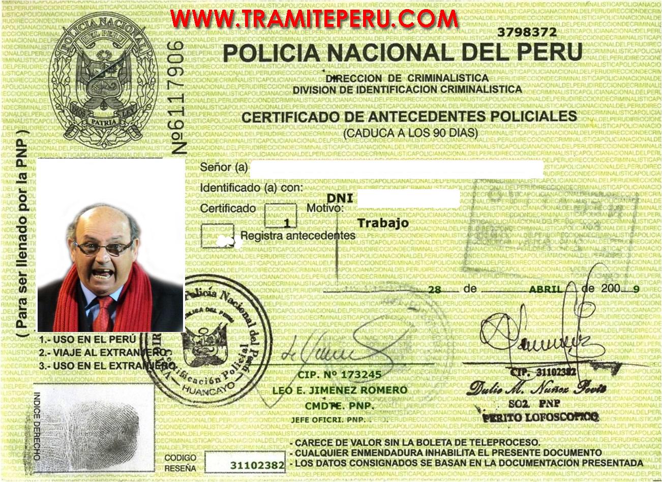 Tramite en peru tramites y documentos servicio al for Ministerio del interior antecedentes