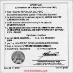 Apostilla y Legalizaciones de Documentos en Peru